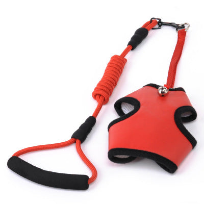 Adjustable Pet Dog Leather Nylon Mesh Breathable Harness