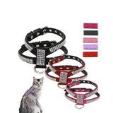 5 Colors Soft Suede Leather Dog Harness and Leash Set