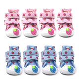 4Pcs/set Pet Dogs Shoes Autumn Winter