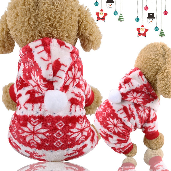 Pet Dog Hoodie Winter Warm Fleece Coat