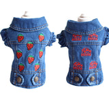 Embroidered Strawberry Pet Dog Clothes