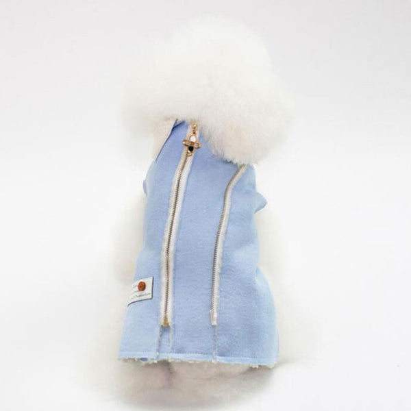Pet Dog Jacket Autumn Winter Vest With Collar Zipper