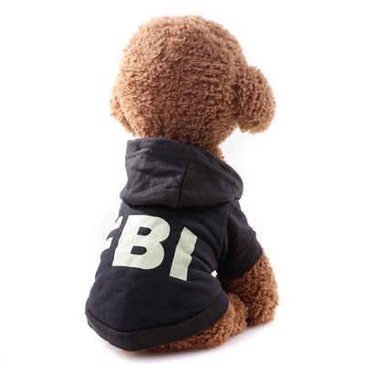 Sport Style Dogs Hoodies Autumn Spring Pet Letter Print Clothing
