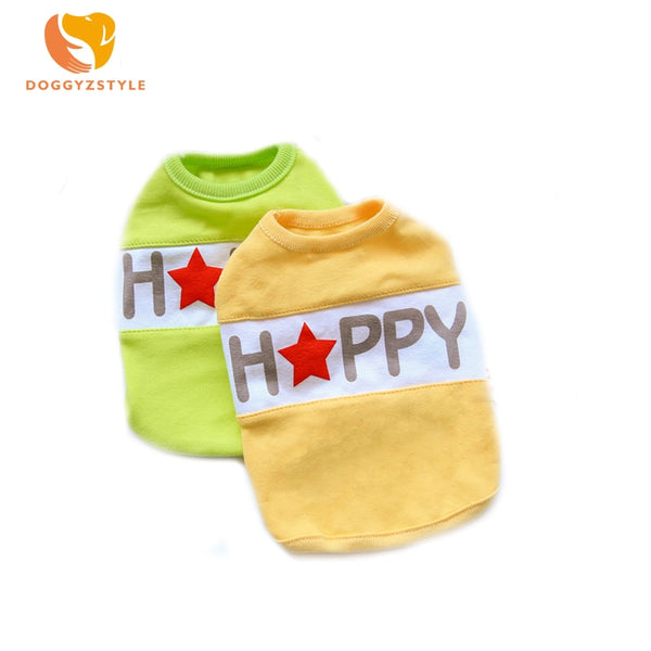 Spring Autumn Pet Dog Letter Print Clothes for Dogs