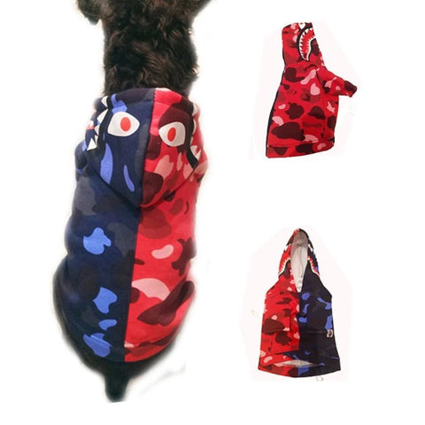 New Pet Clothes Dog Hoodies Colorblock