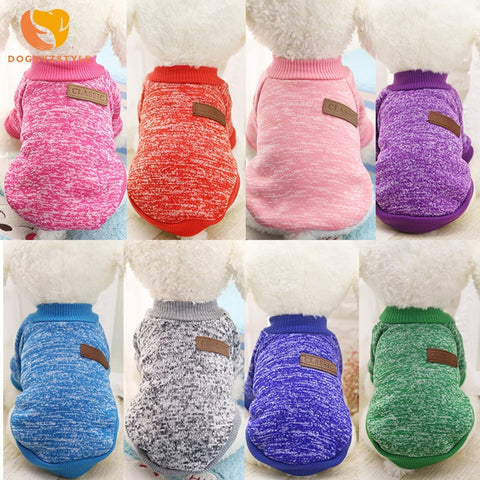 Pet Dog Clothes Winter Warm Cotton Cat Hoodies