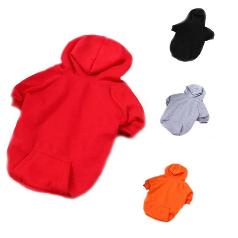 Casual Fleece Pet Sweatshirt Hoodie Coat Clothes For Dogs