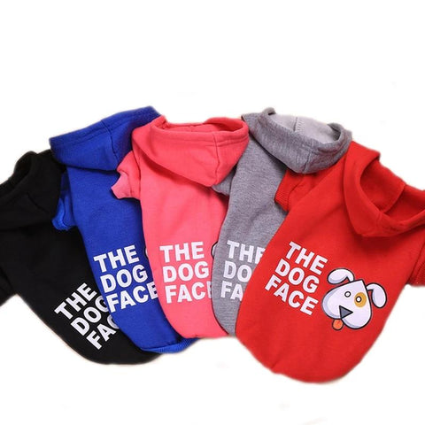 Dog Hoodie Soft Warm Pet Coats