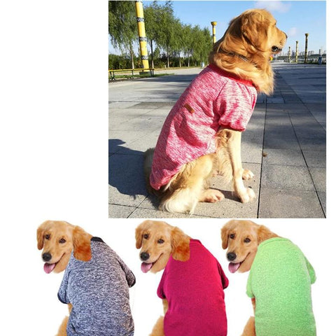 3XL-9XL Pet Dog Clothes Solid Colors Sweatshirt