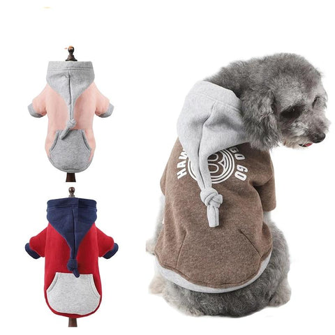 Pet Dog Sweatshirt Thickening Winter Warm Pet Coat