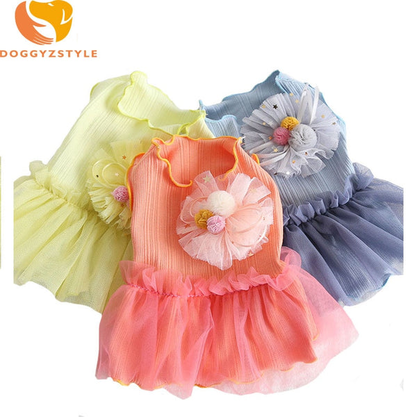 Summer Dog Dress Rabbit And Flower Design Ladies Lace