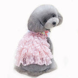 Floral Bow Pet Dog Dress For Small Dogs