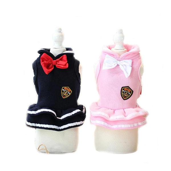 2 Colors Dog Sweatshirt Clothes Dog Bow Tie