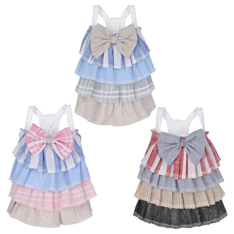 Polyester Dress Pet Dress Spring And Summer Bow Cake Skirt