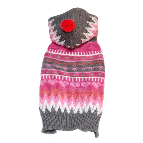 Colorful Stripe Hoodie Knitting Wool Winter Warm Sweater