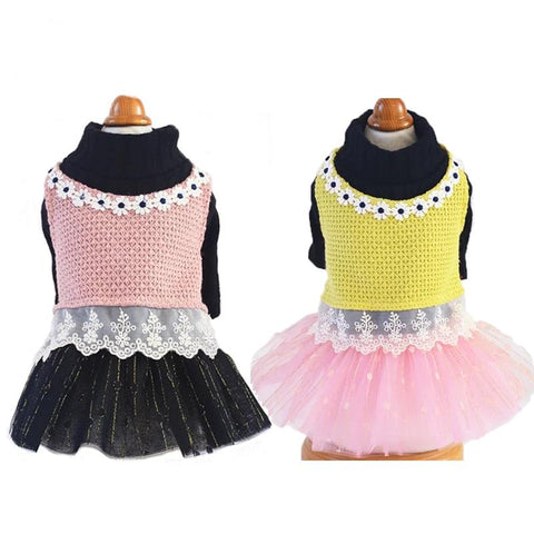 Top Knitted Vest High-Neck Sweater Dog
