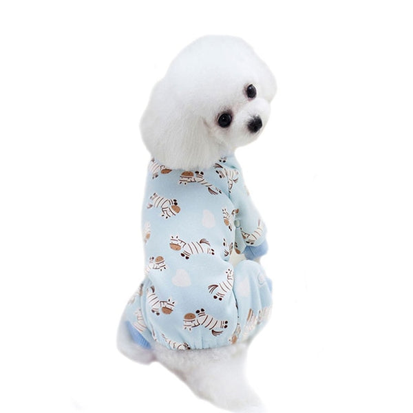 Dog Pajamas Coat Pets Jumpsuit Thicker Warm Outfits