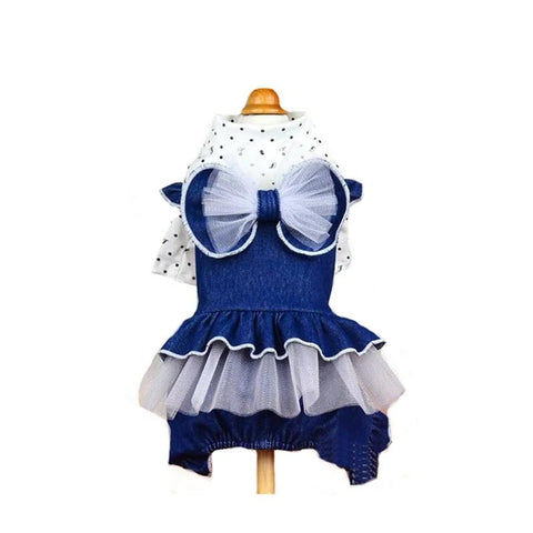 Fashion Dog Dress Clothes Puppy Jean Jumpsuit