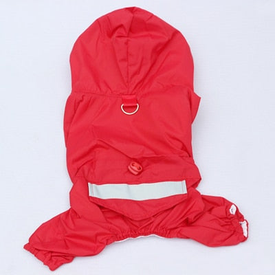 Pet Dog Double Layer Hooded Raincoat Clothes