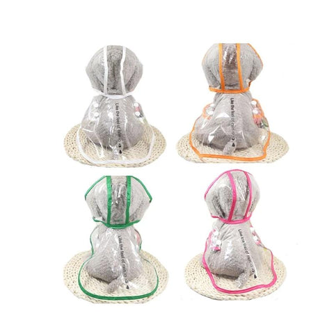 Dog Transparent Raincoat Pet Waterproof Clothes