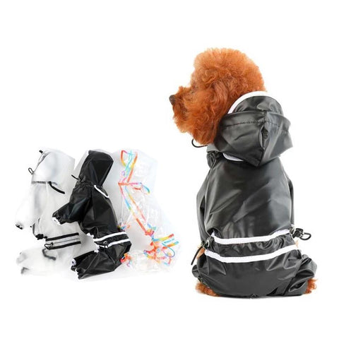 Dog Raincoat Hooded Waterproof Jacket Pet Jumpsuit