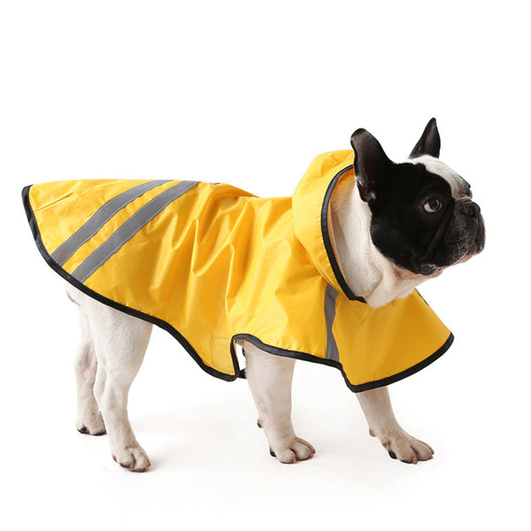 Reflective Impermaeble Snow Dog Raincoat