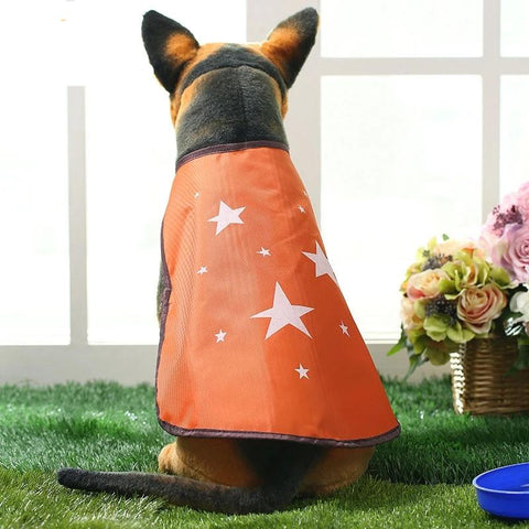 5 Colors Printed Star Raincoat Cloak Pet Products