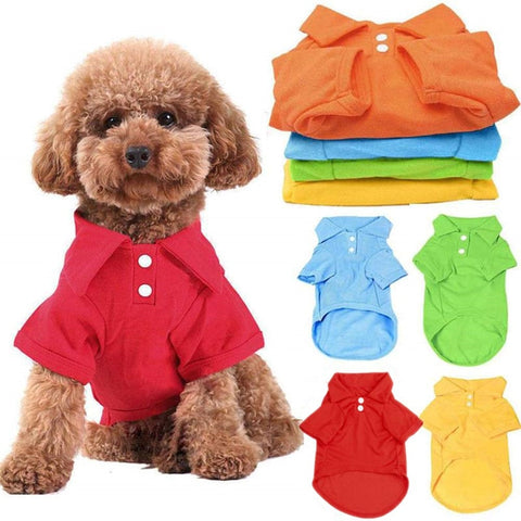 Dog Shirt Pet Puppy Polo Shirt Cat T-Shirt Clothes