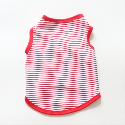 Pet Dog Cat Vest Stripe Soft Cotton Puppy T-shirts