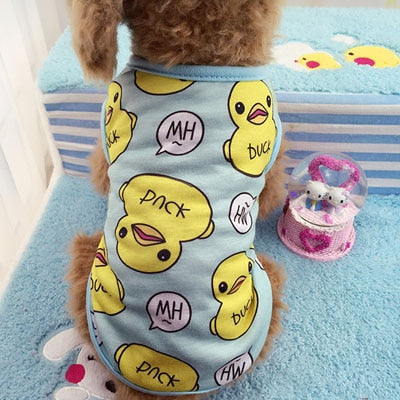 Duck Print Dogs Shirt Pajamas for Pets