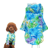Summer Pet Dog Vest Sun Protection Dog Hawaii Style Shirt