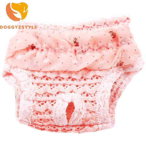 Pet Dog Physiology Pants Lace Chiffon Sweet Soft Comfortable