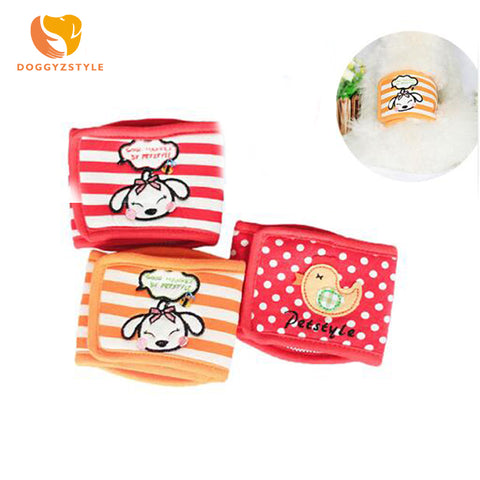 New Cute Animal Design Stripe Dot Washable Pet Dog Diaper