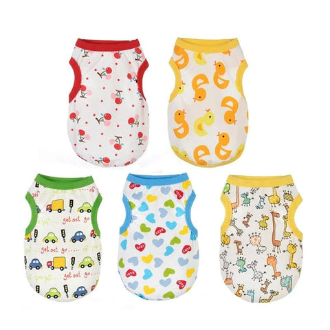 New summer thin dog clothes 4-color variety cute pattern