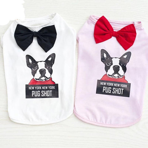 New Gentleman Vest Pet Clothes Summer And Spring Cotton Dog