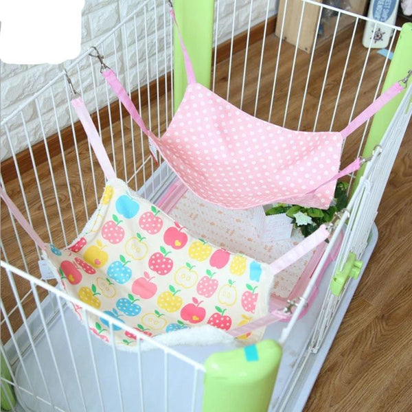 Pet Hammock Hanging Cage Double Side Soft Bed For Cats Dogs Puppy Hanging Bed