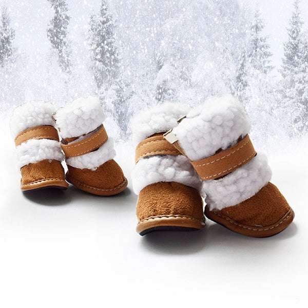 4 Pcs/set Pet Winter Warm Shoes Snow Dog Boots
