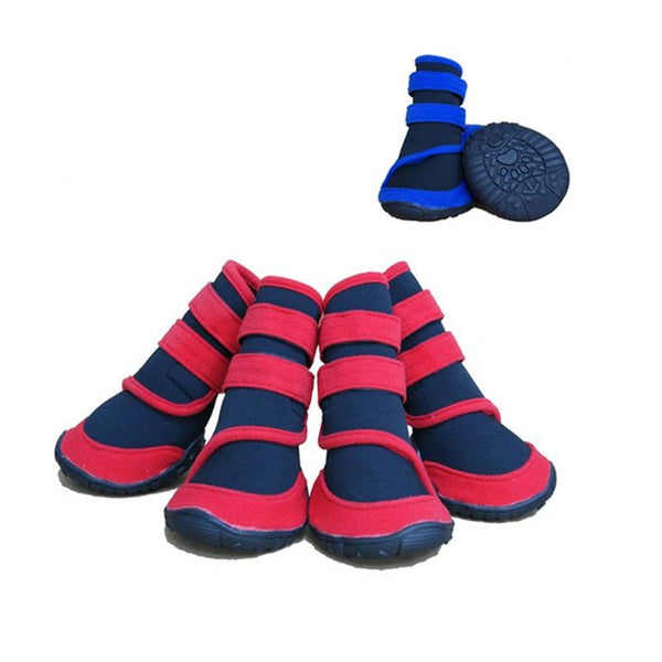 4pcs/lot Fashion Stripe Large Dog Shoes