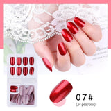New Hot Reusable Stick-On-Nails 24pcs