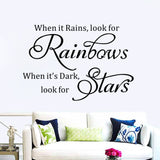 "Modern Characters ""Rainbows Stars"" wall stickers"