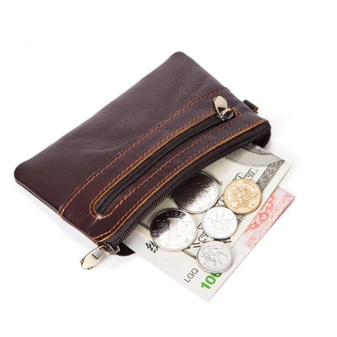 Genuine Leather Unisex Coin Purses