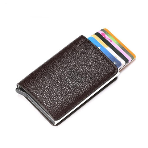 Wallet Litchi Soft Leather Card Case