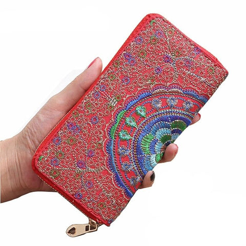 Vintage Women Bag Long Wallet