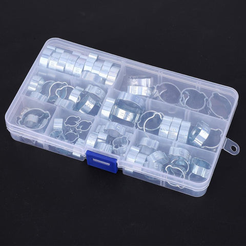 80 Pcs Double Ear Stepless Clamp