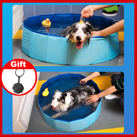 Foldable dog swimming pool
