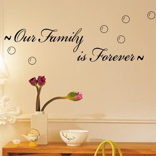 "Characters ""Our Family Is Forever""Wall Sticker Decor"