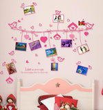 Love line photo wall Love the frame Romantic wall stickers