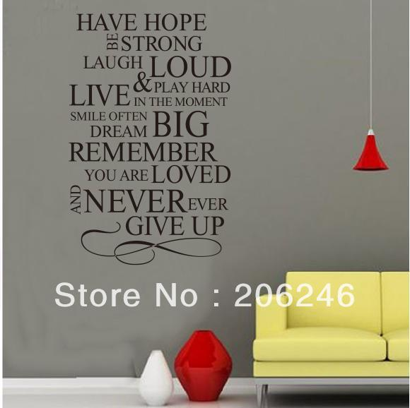 Have Hope/English Saying/Quote/Vinyl Wall Art Decals
