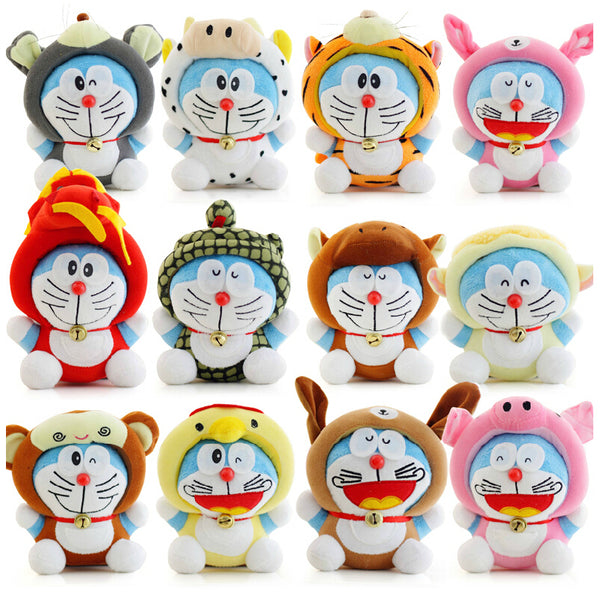 Twelve Zodiac Doraemon Plush Doll
