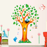 New lovely trees bird wall stick